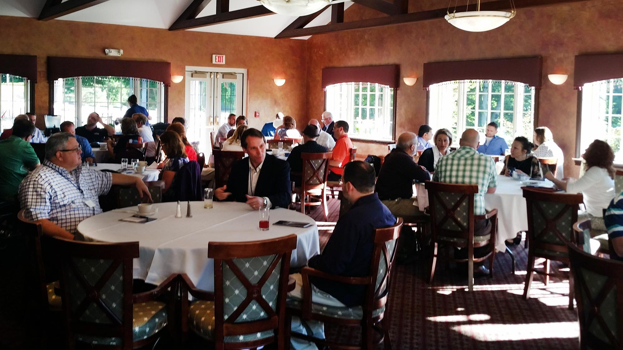 Attendees kick each day off with breakfast at Brook-Lea Country Club.