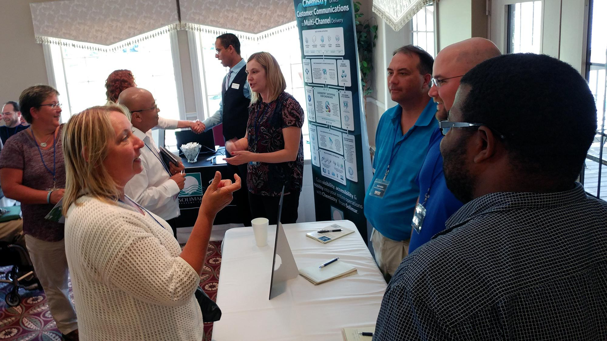 Customers interact with partners and BCC Software employees during the Meeting Zone.