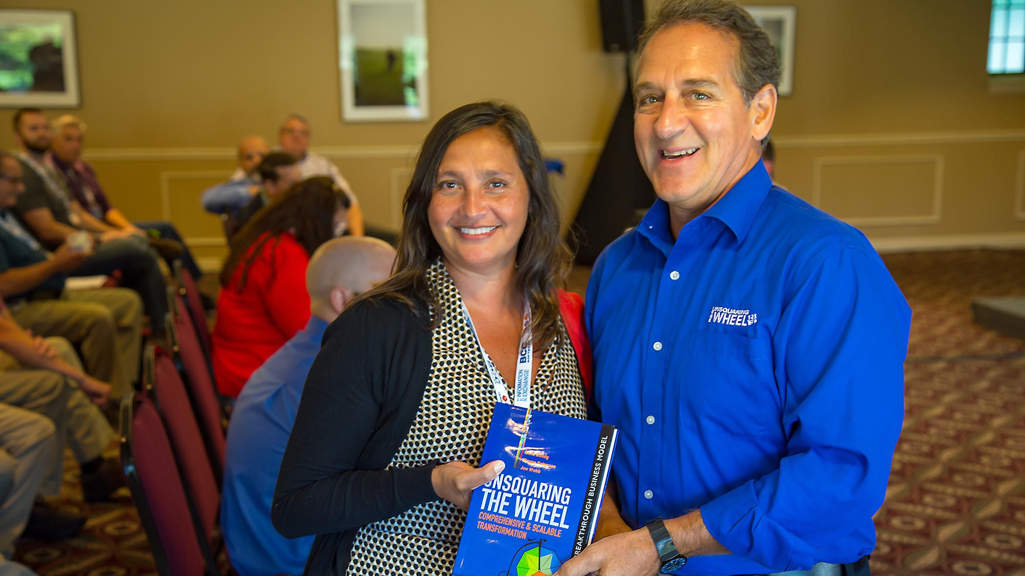 Christine Soward, President/Owner of DMS Ink is one of the many prize winners. Her prize was a book by keynote speaker Chris Bondy.