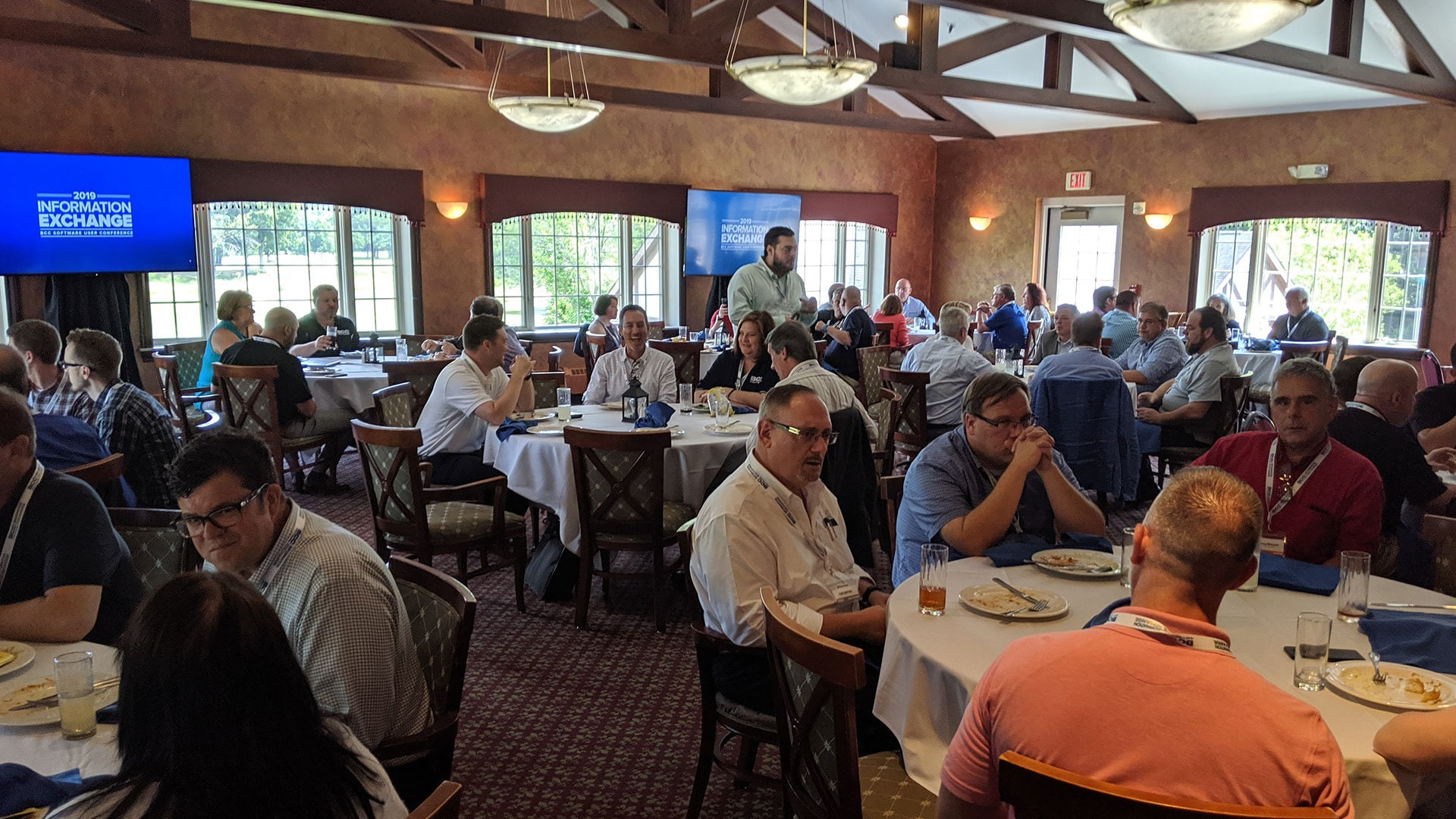 Attendees enjoying lunch at Brook-Lea