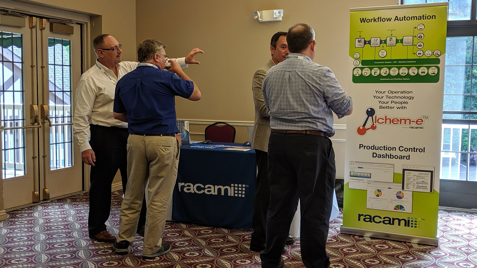 Attendees and Sponsor Racami in the IE Meeting Zone