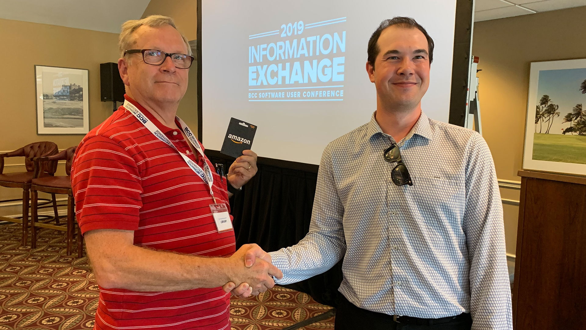 WINNER! Mike Libby from Perinton Publishing won a $50 Amazon gift card from show sponsor Solimar Systems.