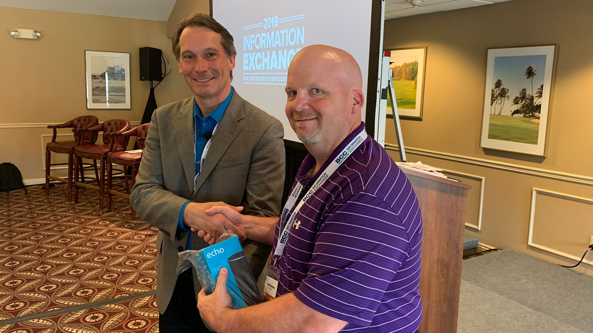 WINNER! Scott Cushman from DCG ONE won an Amazon Echo from BCC Software.
